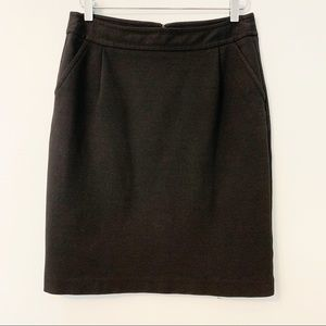 BANANA REPUBLIC Black Stretch Pencil Skirt Size 4